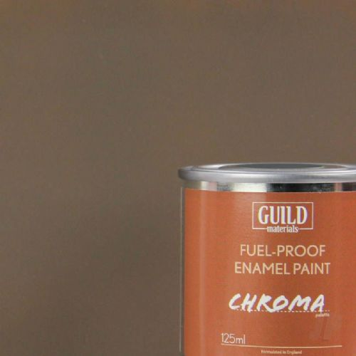 Guild Materials Matt PC10 Dirty Brown Enamel Fuel-Proof Paint (125ml Tin) GLDCHR6316